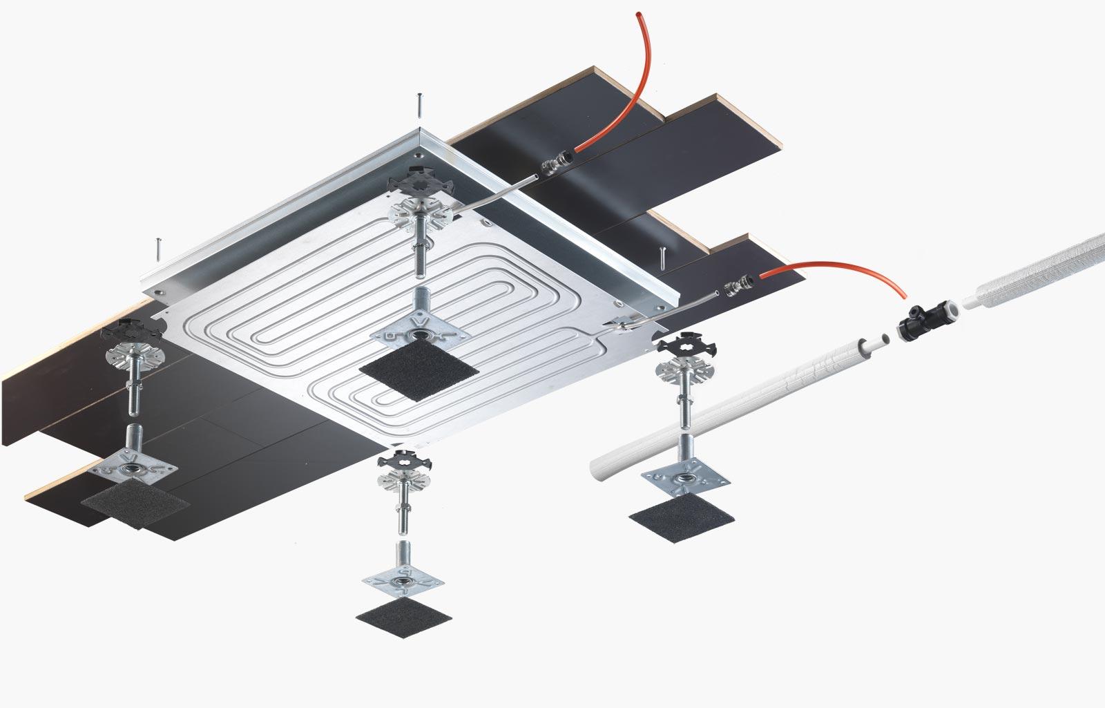 impianto idronico radiante a pavimento
