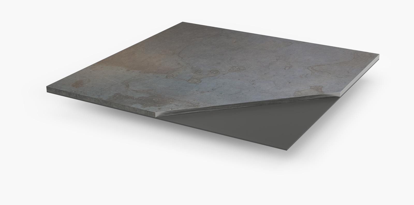 finitura in metallo per pavimenti magnetici
